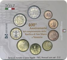 Italien Euro-KMS 2017 mit 2 Euro Sondermünze San Marco