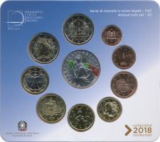 Italien Euro-KMS 2018 inkl. 2- und 5-Euro-Gedenkmünze Verfassung