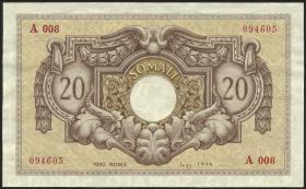 Ital.-Somaliland/Ital. Somaliland P.14a 20 Somali 1950 (1/1-)