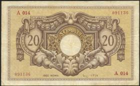 Ital.-Somaliland/Ital. Somaliland P.14a 20 Somali 1950 (3)