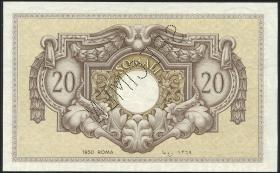 Ital.-Somaliland/Ital. Somaliland P.14s 20 Somali 1950 Specimen (1)