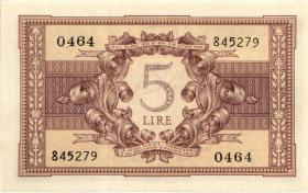 Italien / Italy P.031b 5 Lire 1944 (1)