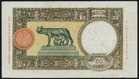 Italien / Italy P.057 50 Lire 1940 (3+)