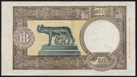Italien / Italy P.066 50 Lire 23.8.1943 (2+)