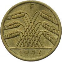 J.308 • 5 Rentenpfennig 1923 F
