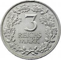 J.321 • 3 Reichsmark Rheinland 1925 A
