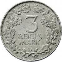 J.321 • 3 Reichsmark Rheinland 1925 D