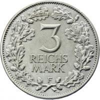 J.321 • 3 Reichsmark Rheinland 1925 F