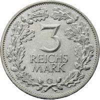 J.321 • 3 Reichsmark Rheinland 1925 G