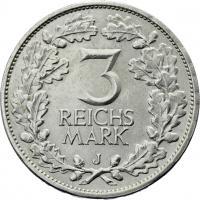 J.321 • 3 Reichsmark Rheinland 1925 J