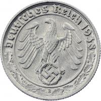 J.365 • 50 Reichspfennig 1938 D