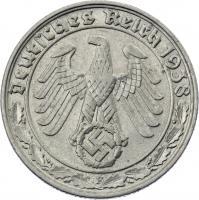 J.365 • 50 Reichspfennig 1938 F