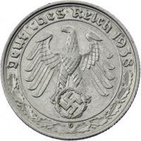 J.365 • 50 Reichspfennig 1938 G