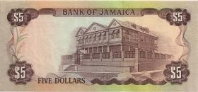 Jamaika / Jamaica P.59CS2 5 Dollars 1977 Specimen * Serie (1/1-)