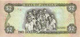 Jamaika / Jamaica P.69d 2 Dollars 1992 (1)