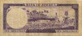 Jamaika / Jamaica P.51Bc 10 Shillings (1964) (4)