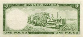 Jamaika / Jamaica P.51Cb 1 Pound L. 1960 (1964) (3)