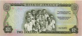 Jamaika / Jamaica P.58 2 Dollars 1960 (1973) Gedenkbanknote (1)