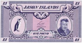 Jason Islands 50 Pence - 20 Pounds 1979 1. Privatausgabe Satz (5 Werte)
