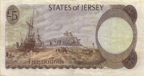 Jersey P.12a 5 Pounds (1976-88) (3)