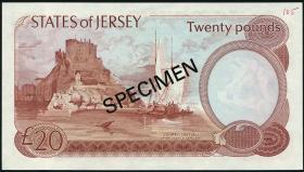 Jersey P.14s 20 Pounds (1976-88) (1) Specimen AB 000000