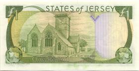 Jersey P.15a 1 Pound (1989) (1) low number