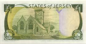 Jersey P.26b 1 Pound (2000) low number (1)