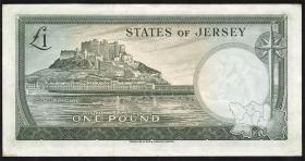 Jersey P.08a 1 Pound (1963) (1-)