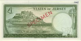 Jersey P.08as 1 Pound (1963) Specimen Serie B (1)