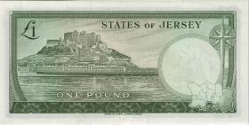Jersey P.08b 1 Pound (1963) Serie G (1)