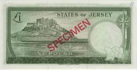 Jersey P.08bs 1 Pound (1963) Specimen Serie F (1)