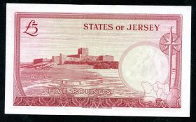Jersey P.09b 5 Pounds (1963) Serie B (1)