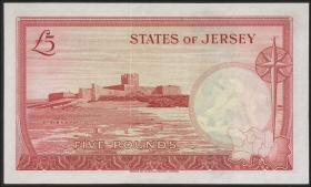 Jersey P.09br 5 Pounds (1963) Z Ersatznote (1)