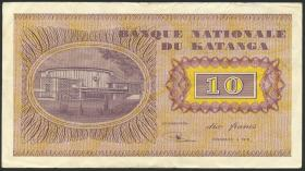 Katanga P.05a 10 Francs 1.12.1960 (3+)