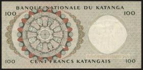 Katanga P.12b 100 Francs 15.1.1963 (3+)