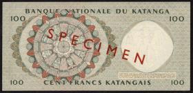 Katanga P.12s 100 Francs 18.5.1962 Specimen  (1)