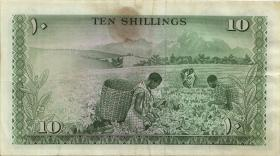Kenia / Kenya P.02a 10 Shillings 1967 (3-)