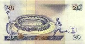 Kenia / Kenya P.35c 20 Shillings 1998 (1)