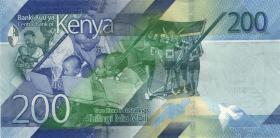 Kenia / Kenya P.neu 200 Shillings 2019 (1)