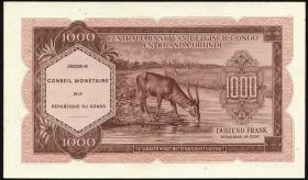 Kongo / Congo P.002 1000 Francs 1962 (1)