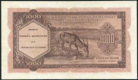 Kongo / Congo P.002 1000 Francs 1962 (3+)