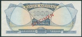 Kongo / Congo P.008s 1000 Francs 1964 Specimen (1)