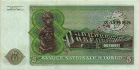 Kongo / Congo P.014s 5 Zaires 1971 Specimen (1)
