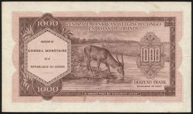 Kongo / Congo P.002 1000 Francs 1962 (2)