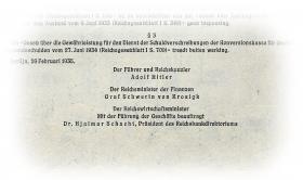 Konversionskasse für deutsche Auslandsschulden 100 Holl. Gulden