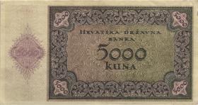 Kroatien / Croatia P.14a 5000 Kuna 1943 (2)