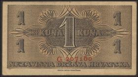 Kroatien / Croatia P.07b 1 Kuna 1942 (2)