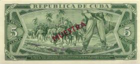 Kuba / Cuba P.103cs 5 Peso 1984 Specimen (1)