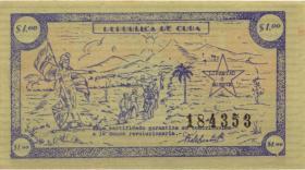 Kuba / Cuba P.G01a 1 Dollar (1953) Guerilla-Banknote (1)
