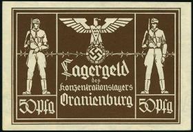 KZ Oranienburg 50 Pfennig (1933) Lagergeld (2+)